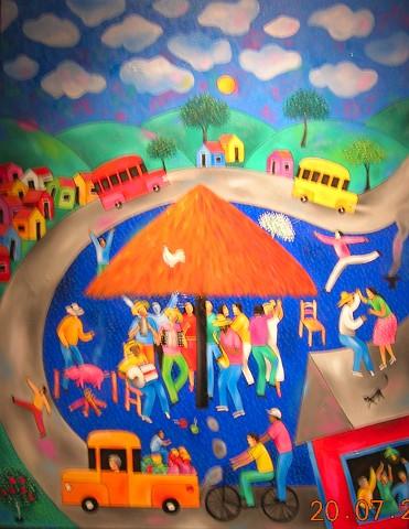 José Morillo (1975- ), Viva el Merengue, 2003, Oleo, 52 x 68.5 cm Museo Bellapart, Santo Domingo, República Dominicana