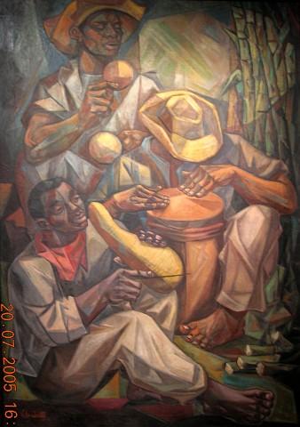José Vela Zanetti (1923-1999), El Merengue, 1955, Oleo, 215.5 x 145.5