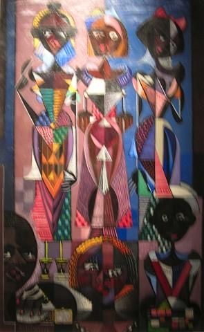 Jaime Colson (1901-1993), Fiesta de Guachupita, 1955, Oleo, 103 x 59.5 cm