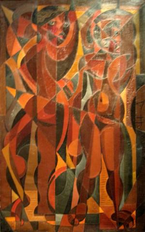 Jaime Colson (1901-1993), Danza del Trópico, 1956, Oleo, 135 x 81.5 cm