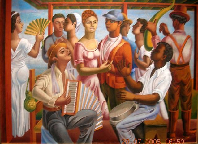 Jaime Colson (1901-1993), Merengue, 1938, Oleo, 52 x 68.5 cm<br>Museo Bellapart, Santo Domingo.