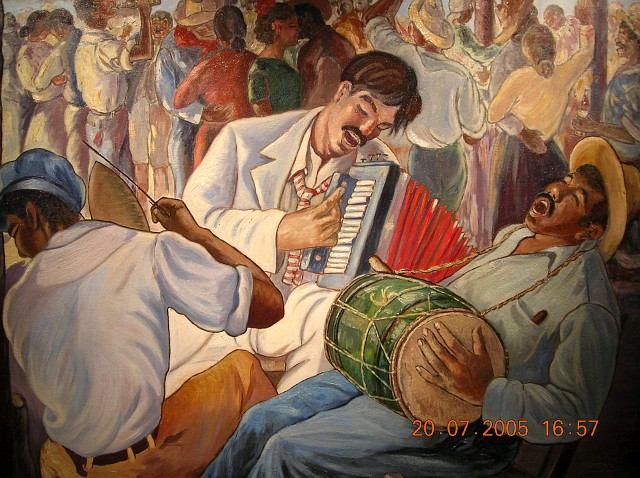 Yoryi Morel (1906-1979), Bachata, 1941, Oleo, 101.5 x 129.7 cm