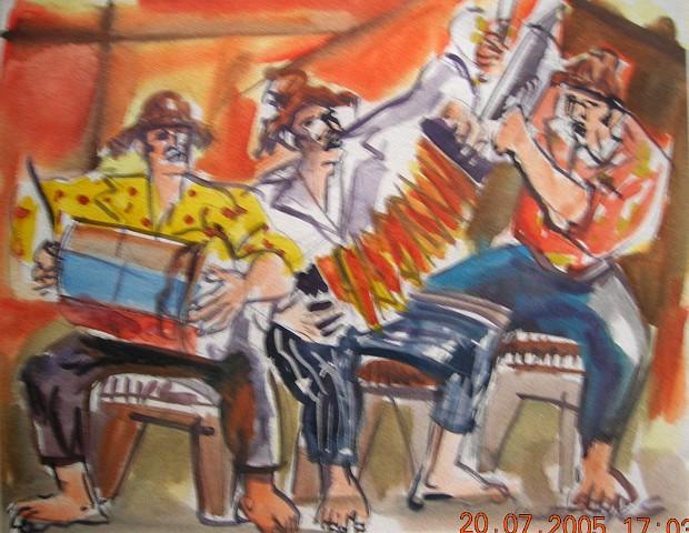 Kutty Reyes (1962- ), Músicas Típicas, S/F, Mixta, 24 x 30.5 cm