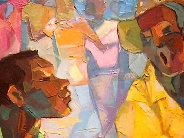 Jacinto Domínguez (1935- ), Perico Ripiao, S/F, Oleo, 91.5 x 76 cm, Museo Bellapart, Santo Domingo