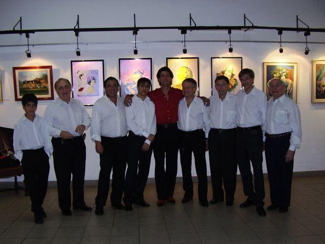 Los HOMBRES DEL TANGO...Lucio, el mas chiquito, Juan Carlos, Nestor, Nico, Juan el Profe, 'J.J.' Niz, Isaac, Juan Ignacio y Tito