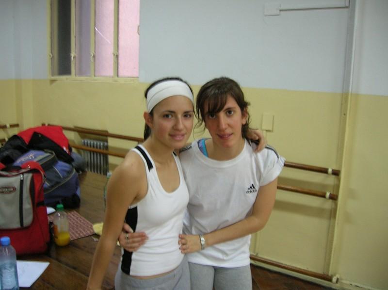 Paula Kisel y Julia Nabb. Clase de Tap. Sábado 3 junio 2006