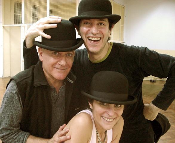 Clase de Tap. Sábado 8 julio 2006. Alberto Agüero, Héctor y Graciela Maugeri