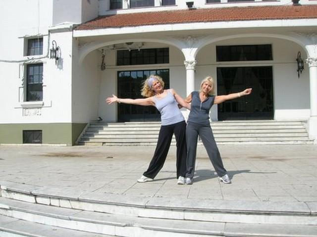 Olga Machalek y Mónica Cataldo<br>Geba San Martín, 12oct2008, Domingo con Lluvia