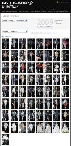 Défilé Dolce & Gabbana P-A-P, Printemps-été, 2009, Prêt-à-porter