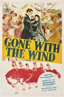 Armando Seguso (1897-1984)GONE WITH THE WIND1939, M.G.M., U.S. one-sheet, style DP, condition B; backed on linen, conservation framed41 x 27in. (104 x 69cm.) SALE 9575 — Lot 150VINTAGE POSTERS30 October 2013London, South KensingtonPrice Realized £1,875 ($3,008)