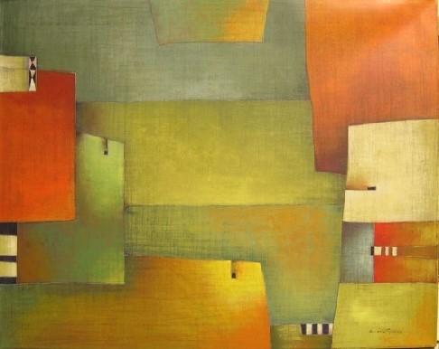 """Antonia Guzmán""""La laguna""""Año: 2005Técnica: PinturaTamaño: 80x100 cm"""
