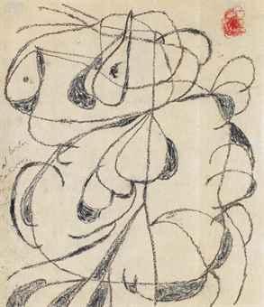 Joan Miró (1893-1983)Compositionsigné et dédicacé indistinctement 'al Doctor ..... con buen recuerdos Miró 20' (en bas à gauche)crayon gras sur papier32 x 28 cm. (12 5/8 x 11 in.)Exécuté vers 1980 SALE 3567 — Lot 42ART IMPRESSIONNISTE ET MODERNE3 December 2013ParisEstimate €18,000 – €25,000 ($24,404 - $33,894)