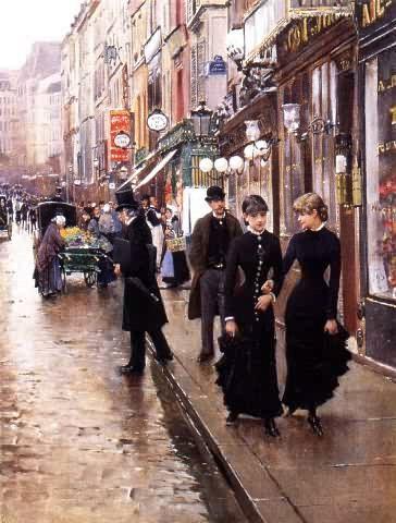 Jean Béraud (French, 1849-1936) Promenade