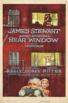 Rear Window1954, Paramount, U.S. one-sheet -- 41 x 27 in. (104 x 69 cm.), linen-backed, (A)